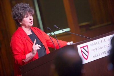 "Joan Ruderman, senior adviser to the Radcliffe science program, said that water is in the headlines regularly today, from stories about chemical pollutants like PCBs being cleaned up to links between water and energy, to the search for water in arid parts of the world. Ruderman took part in Radcliffe's annual science symposium, this year titled ""Cloudy with a Chance of Solutions: The Future of Water."""