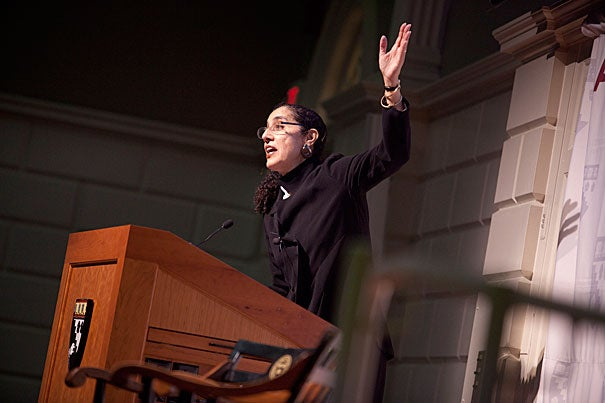In an Askwith Forum last week, Lani Guinier spoke passionately about the long history of discrimination in Texas in the wake of a pending, and pivotal, Supreme Court decision.