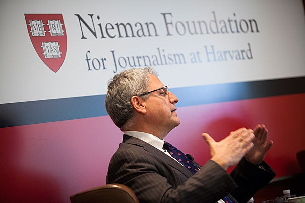 """""""You can't stop technology. People will demand programming when and where they want it. To not be in the digital space means you'll be replaced. And you'll never come back,"""" Gary E. Knell, who took over as CEO of NPR in 2011, told his Nieman Foundation audience."""