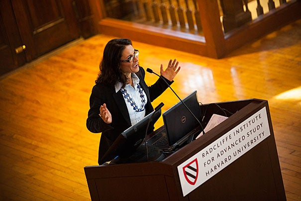 "This fall, the Committee on the Concerns of Women at Harvard hosted ""Imperfect Balance,"" a discussion of Anne-Marie Slaughter's Atlantic article, ""Why Women Still Can't Have It All."" Harvard Professor Francesca Dominici (pictured) led the discussion, which will continue at a follow-up meeting on Nov. 14."