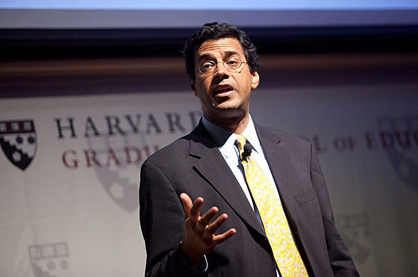"Atul Gawande's Askwith Forum talk covered observations from sports and music, as well as anecdotes from his career — including his experience working with a surgical coach. In addition to suggesting some technical changes (like changing the position of his elbow), the coach also ""pointed out the ways I'd missed opportunities to help the team perform better,"" Gawande said. After making changes and re-focusing on small details, ""I saw my complication rates go down."""