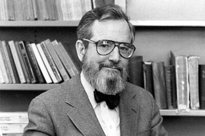 """""""My students have given me the greatest pleasure,"""" said Bible scholar Frank Moore Cross, who retired from Harvard in 1992. """"I have always had the view that the first task of a scholar is to pass knowledge and understanding of method and the tools of his field from one generation to the next."""""""