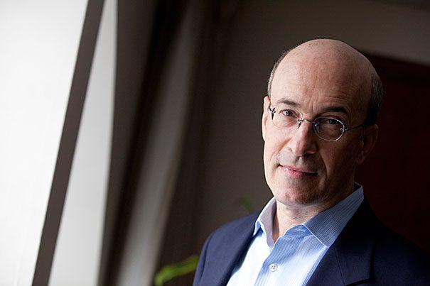 """""""... I think the challenge now is to find a way to try to maintain solid growth. Unfortunately, based on my work with Carmen Reinhart [the Minos A. Zombanakis Professor of the International Financial System at Harvard Kennedy School], I have to guess that it will be very hard to dig our way out fast,"""" said Kenneth Rogoff, Harvard's Thomas D. Cabot Professor of Public Policy and professor of economics."""