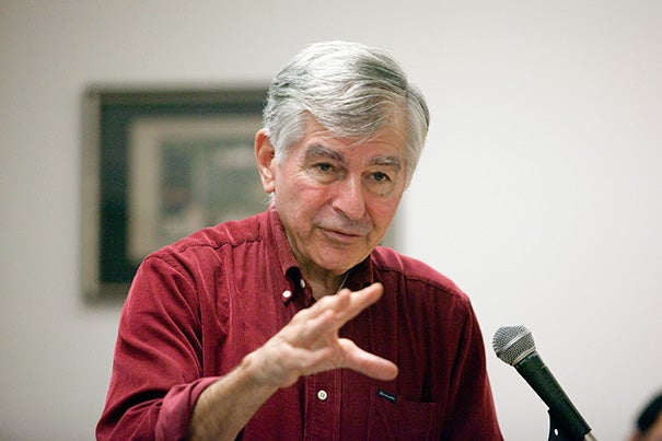 """""""We're in a big economic hole, and we're going to get out of it, but austerity can't get you out of a recession. I don't know why we have to learn this lesson over and over again. It just doesn't work,"""" Michael Dukakis, a former three-term governor of Massachusetts, told his Harvard audience."""