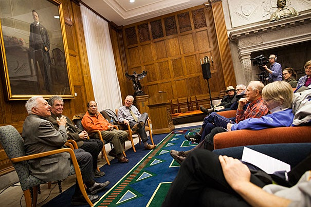 "With an iPod, you only listen to what you upload. But ""radio offers a wonderful world of discovery,""  explained Eric Jackson (third from left). Jackson was joined by concert promoter Fred Taylor (from far left), fellow radio personality Steve Schwartz, and jazz critic Bob Blumenthal for a discussion on jazz."