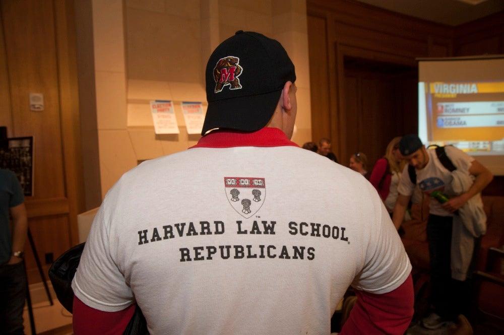 Election Night at Harvard University. Jon Chase/Harvard Staff Photographer