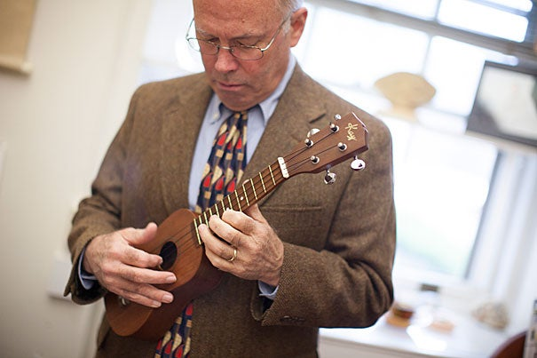 Korea Foundation Professor of Korean Literature David McCann is an authority on sijo (shee-jo), a poetic form often compared with Japanese haiku. Sijo is traditionally paired with music, and McCann likes to sing the poems ... to the sounds of the ukulele.
