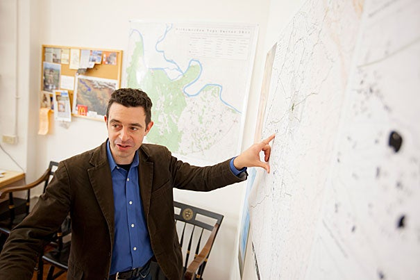 Jason Ur, the John L. Loeb Associate Professor of the Social Sciences, is breaking new ground with a Harvard-led archaeological project in the war-torn nation of Iraq. He is focusing on a 3,200-square-kilometer region around Irbil, the capital of the Kurdish region in northern Iraq, for signs of ancient cities and towns, canals, and roads.