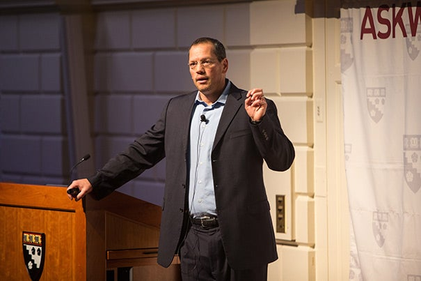"""""""Teachers do the most important job in the world, and one of the hardest,"""" author and educator Doug Lemov told a packed audience Thursday evening in the Harvard Graduate School of Education's Longfellow Hall."""