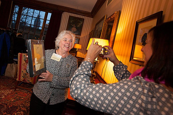 Barbara Wiberg, the Peabody Museum's administrative coordinator, was honored for her 25-year service to the University. Wiberg's daughter, Kara Colannino, has worked at the University for 15 years.