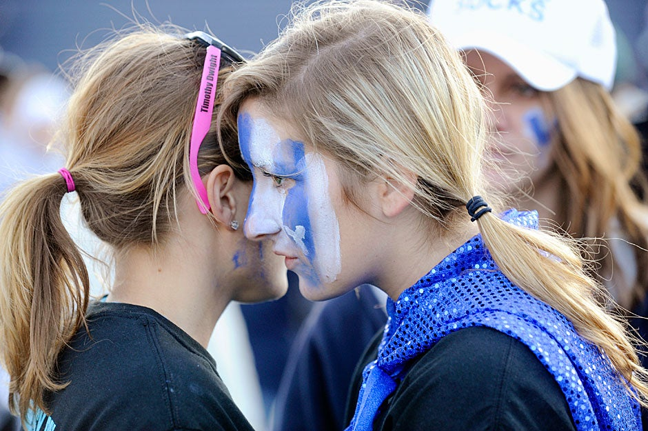 Yale students commiserate after the game in 2009. They had reason to feel blue after losing yet another edition of The Game, their eighth loss in nine years, as they fell to the Crimson, 14-10.