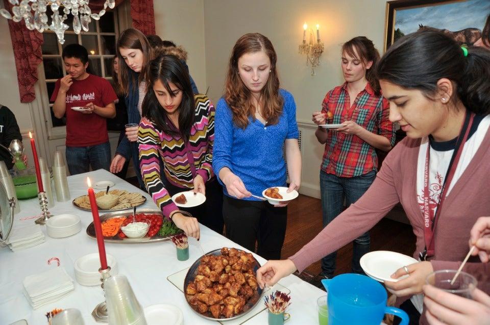 Leverett residents enjoy the popular monkey bread.