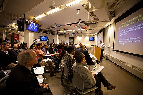About 140 students packed Harvard's i-lab in Allston Tuesday night for the kickoff of the Deans' Health and Life Sciences Challenge, a $75,000 contest whose aim is to promote new ideas and innovative thinking in key health-related areas.