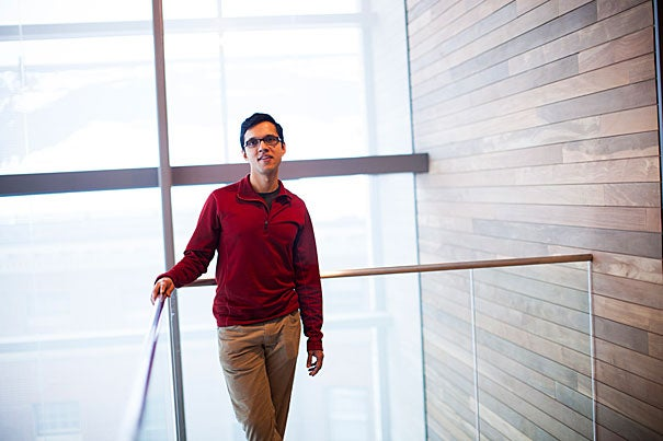 Arvind Subramaniam co-authored a recent paper with Philippe Cluzel that answers a long-standing mystery of the genetic code. He and Cluzel found that, under stressful conditions, certain sequences manufacture proteins efficiently, while others — which are ostensibly identical — produce almost none.