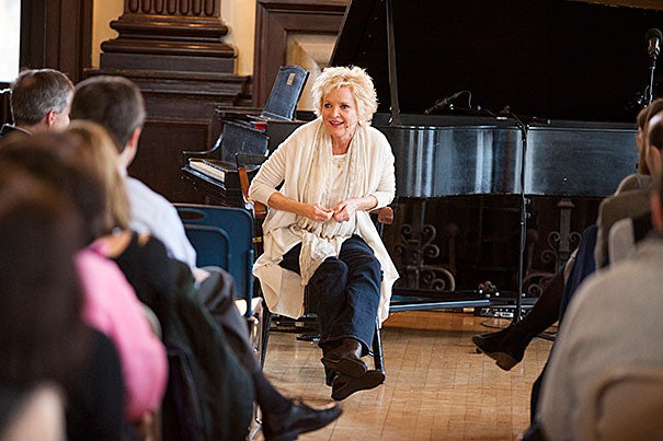 "During a master class with freshmen, actress Christine Ebersole urged the students to think about their approach to the craft as a type of personal journey. ""It's never an event; it's always a process,"" she said. ""It's peeling the layers of the onion so you get down to you."""