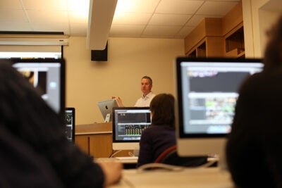 "During Wintersession, the Harvard College Library hosted a multimedia authoring ""boot camp,"" reflecting the increasingly essential use of media in academic work. The boot camp grew out of a larger initiative, launched by faculty and librarians, to ensure support for the growing use of new media in scholarship and academic work."