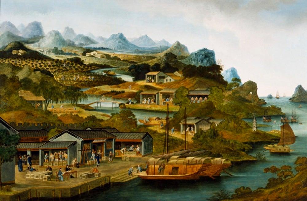 Tea Production in China, 1790-1800. M25794. Peabody Essex Museum, Salem, Massachusetts.