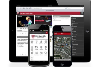 Harvard Mobile 2.0 now has native applications for Android and iOS operating systems, as well as a mobile Web application accessible to any Web-enabled smartphone. Harvard Mobile provides easy access to campus maps, directories, and dining hall menus, as well as University news, events, and course catalogs.
