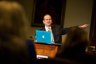 In light of Aaron's Law, Lawrence Lessig called for a closer examination of what constitutes major and minor violations in cyberspace.