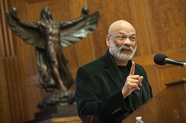 "The man who wrote that ""all men are created equal"" owned hundreds of black men throughout his lifetime, noted  Wilson J. Moses, as he presented the second of three lectures on ""Thomas Jefferson and the Notion of Liberty."" But Jefferson also suggested that ""there is a moral instinct and the black people are not lacking in this,"" Moses said. The lecture series continues today at the Barker Center at 4 p.m."