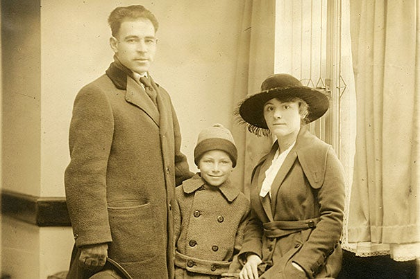 """This photograph of Sacco's """"little family"""" — a phrase coined by the public — was a stock image that appeared in many local and international newspapers. It was also used as publicity by loyal supporters of the anarchist, socialist, and labor movements, appearing in broadsides and posters advertising protest meetings and rallies to be held in the U.S. and abroad."""