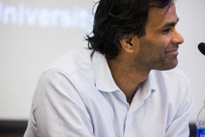 """Harvard Economics Professor Sendhil Mullainathan said that businesses need to pay attention to the influence of advice (people are more affected by others than they realize); persuasion (people are more inclined to take a given action when others are doing the same); and, basically, laziness, what Mullainathan called """"outsourcing self-help"""" to technological aids."""