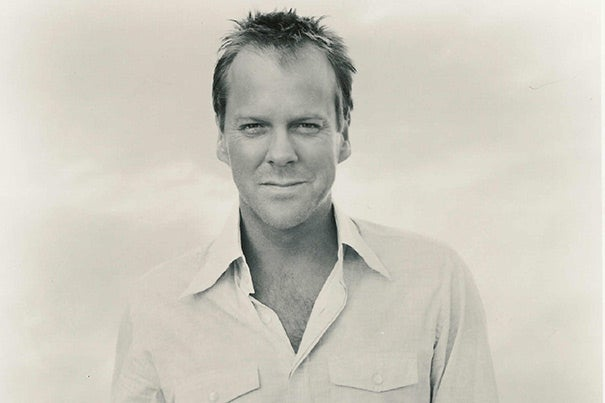 """Kiefer Sutherland is a prolific and award-winning actor who recently starred in the critically acclaimed Fox drama """"24,"""" for which he won a Golden Globe, an Emmy, and two SAG awards."""
