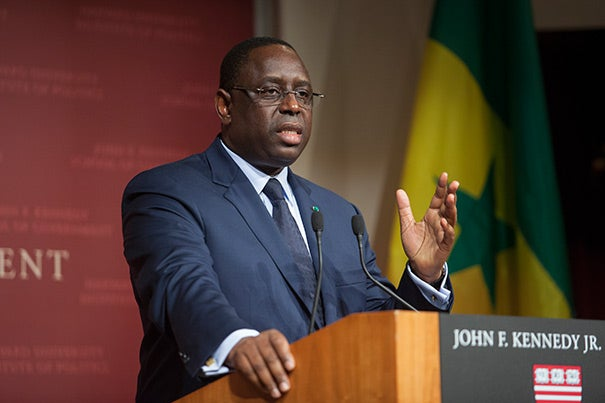 "In addressing his Harvard Kennedy School audience, Macky Sall, president of the Republic of Senegal, described Africa as being on the verge of power and prosperity. ""Africa is the continent of the future,"" Sall said — young and rich in resources. ""Senegal aspires to be a middle-income country"" ... an economic ""African tiger,"" he added."