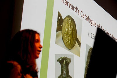 While much of the curators' work involves preparing objects for display, there remains a great deal of behind-the-scenes work on hundreds of pieces that might not make it onto the new building's walls. Lisa Anderson, Frederick Randolph Grace Assistant Curator of Ancient Art, described a project to catalog and digitize the museums' collection of ancient bronzes, including roughly 1,250 objects that ultimately will not be displayed.