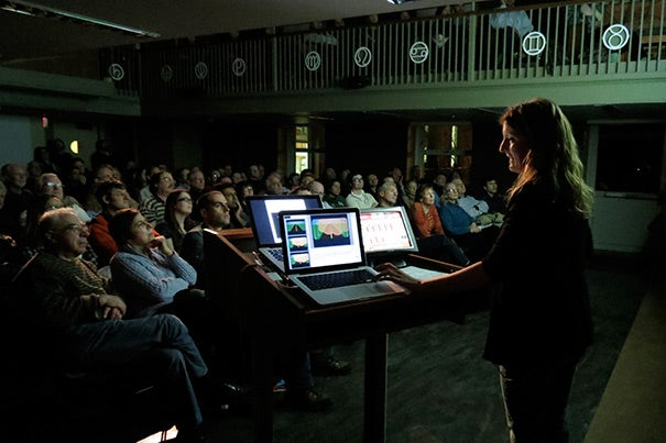 Harvard-Smithsonian Center for Astrophysics' Katherine Wyman delivered a talk on space phenomena that have the potential to alter Earth's climate.