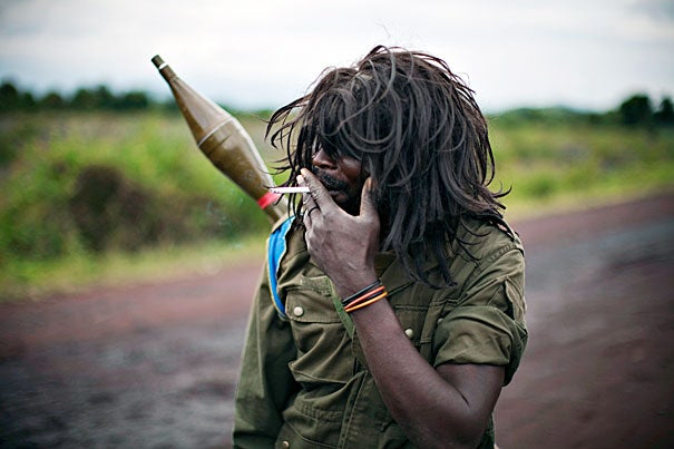 """""""Congo on the Wire,"""" an exhibit of photographs by Finbarr O'Reilly of Thomson Reuters, is at the Carr Center through June 30."""