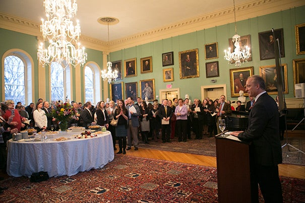 """""""The faculty and students are incredibly fortunate to have you here, have you working for us, and have you support everything we do here. You make a huge difference in everything this institution is able to accomplish. You make Harvard what it is,"""" FAS Dean Michael D. Smith told the 57 recipients of the Dean's Distinction award."""