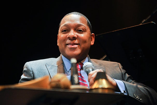 """Wynton Marsalis' lecture, """"At the Speed of Instinct: Choosing Together to Play and Stay Together,"""" will be held 7 p.m. April 17 at Sanders Theatre. The event will be live-streamed at harvard.edu."""