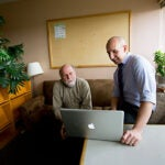 """Ironically, while online classes have exploded in popularity in the past few years, there remains """"shockingly little"""" hard scientific data about how students learn in the virtual classroom, said   Harvard Psychology Professor Daniel Schacter (left). Schacter and postdoctoral fellow Karl Szpunar's research on effective online learning will be published this week in the Proceedings of the National Academy of Sciences."""