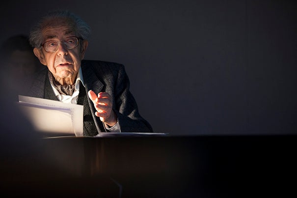 """The Carpenter Center's first director, Eduard Sekler, returned to Harvard to celebrate the center's 50th anniversary. """"A lot of the traditional professors thought [the Carpenter Center] was a disgrace,"""" he said. But putting up the controversial building filled Sekler with admiration for Harvard's president at the time, Nathan M. Pusey. """"He turned out to be a real reformer,"""" said Sekler, """"who wanted to let the future come very directly into the University."""""""