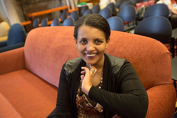 """I was in prison because I spoke,"" said Birtukan Midekssa, a Harvard Scholar at Risk who spent 41 months of her life in Ethiopian prison."