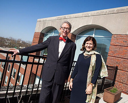 During his year at the Harvard Alumni Association helm, Carl F. Muller '73, J.D. '76, M.B.A. '76, called upon alumni to view Harvard as a powerful thread that connects their past, present, and future lives. Incoming President Catherine A. Gellert '93 intends to build on Muller's vision as she works to inspire alumni to engage and connect.