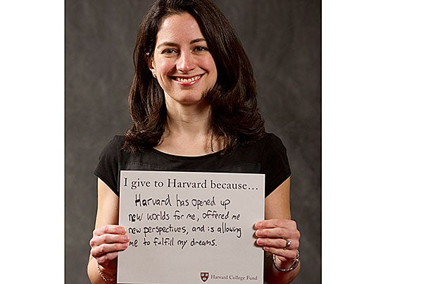 At a Volunteer Voices event this spring, Deborah Elitzur '96 writes about why she gives to Harvard.