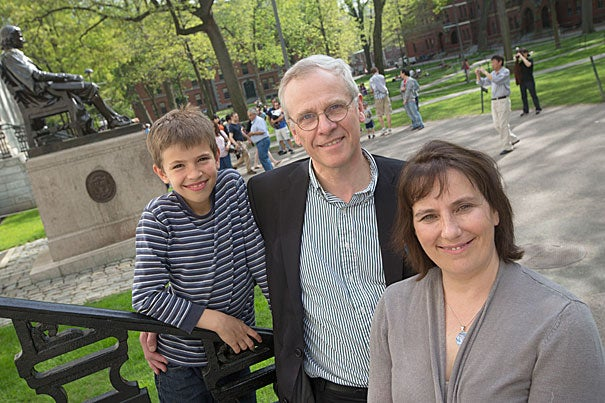 "Anne Harrington, her husband, John Durant, and their son, Jamie, will be calling Pforzheimer House home this fall. ""I see this as enormously enriching for the family,"" said Durant."