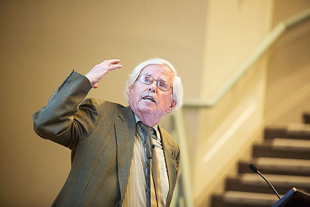 "Frances Glessner Lee Professor of Medical Ethics Dan Brock's Wednesday talk, ""The Future of Bioethics,"" began with a look at some of today's central issues — ethical dilemmas arising in clinical and research contexts, matters of confidentiality, stem cells, and neuroethics."