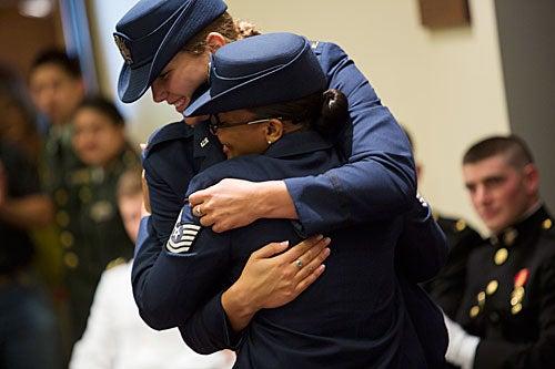 ROTC Ceremony_hug_500