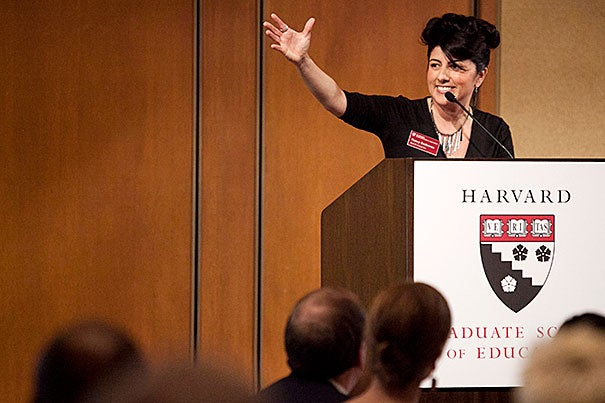 """Harvard, said Nancy Gutierrez, took her """"from being a good leader to a highly skilled, thoughtful, and reflective leader."""" Gutierrez, along with 20 other women and men, are the first graduates of an interdisciplinary Harvard program designed to create a corps of leaders to transform the nation's public school system."""