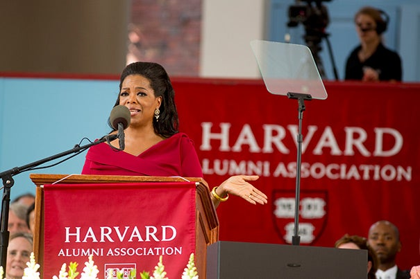 "Oprah Winfrey offering advice to the Class of 2013: ""If you're willing to listen to, be guided by, that still small voice that is the G.P.S. within yourself — to find out what makes you come alive — you will be more than okay. You will be happy ..."""