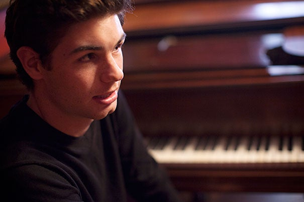 """""""Any music at all made me very interested, very excited, and I just had to know more about it,"""" said Drew Petersen, a classically trained, professional pianist who will graduate this month from Harvard Extension School and from a two-year diploma program at Juilliard."""