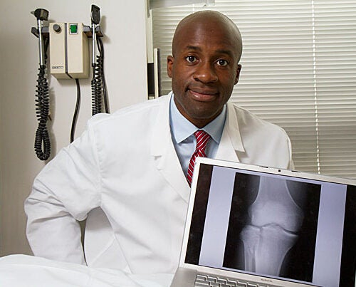 Benedict Nwachukwu is passionate about orthopedics, management, and global health, so naturally he earned degrees from both Harvard Medical School and Harvard Business School.