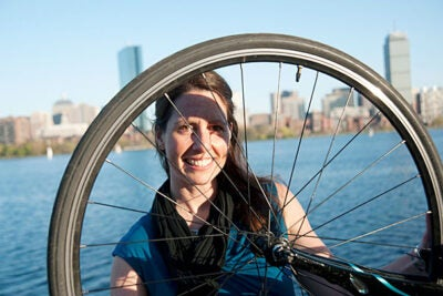 """For the past two years at the Graduate School of Design, Alice Anne Brown studied urban planning — especially how bicycles can make cities more livable, lovable, and viable. """"There is no better way to really see a place,"""" she said of biking."""