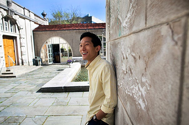 "Scott Yim '13 blogged about his student experiences for the Harvard College Office of Admissions and Financial Aid, gave tours through the Crimson Key Society, participated in this year's ""Virtual Visitas,"" and earlier this year he was elected second marshal for the Class of 2013, a lifelong position that carries into alumni life. ""This place has been very good to me,"" he said."