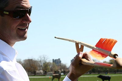 Students in Matthew Liebmann's class not only learned how an atlatl worked, they actually got to throw one.