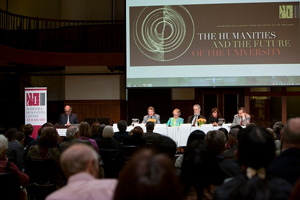 "A panel of experts met in early May for ""The Humanities and the Future of the University."" Convened by the Mahindra Humanities Center and funded by the Office of the President, the discussion explored ways of reviving interest in the reflexive and analytical disciplines that make up humanistic study."