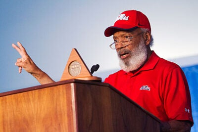 Civil Rights legend James Meredith received the Harvard Graduate School of Education's highest honor, the Medal for Education Impact.